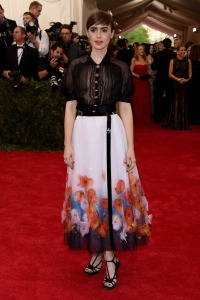 Lilly Collins in Chanel